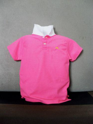 เสื้อโปโลเด็ก สีชมพู